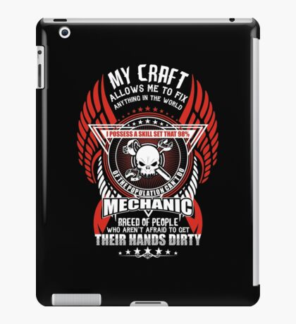 Mechanic My Craft Allows Me To Fix iPad Case/Skin
