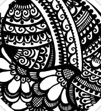 Handdrawn Round Henna Sticker #4 from Hennacat (B&W or Colour me in!) Sticker
