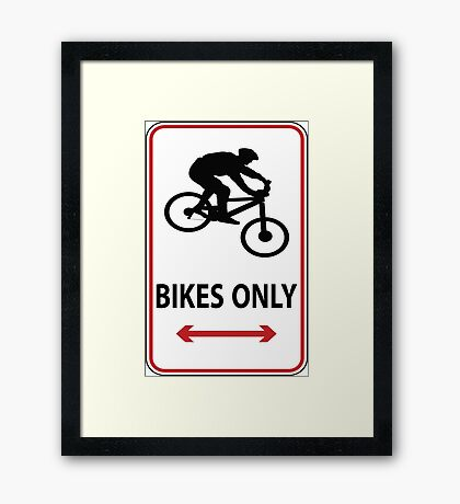 MTB down Framed Print