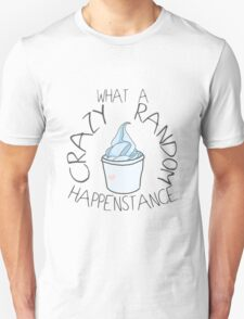 """Crazy Random Happenstance"" Dr Horrible T-Shirt"