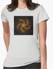 ©DA FS Yellow And Red FX2D. Womens Fitted T-Shirt