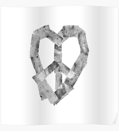 Peace Heart Poster
