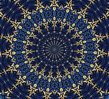 Navy blue and gold by Dipali S