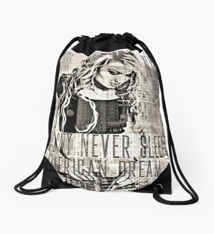 NEW YORK - THE CITY NEVER SLEEPS Drawstring Bag