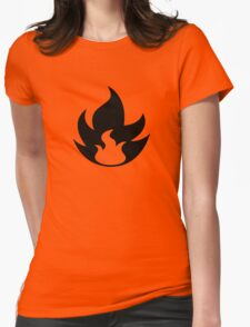 Fire Type Symbol Womens Fitted T-Shirt