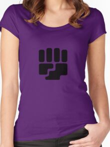 Fighting Type Symbol Women's Fitted Scoop T-Shirt