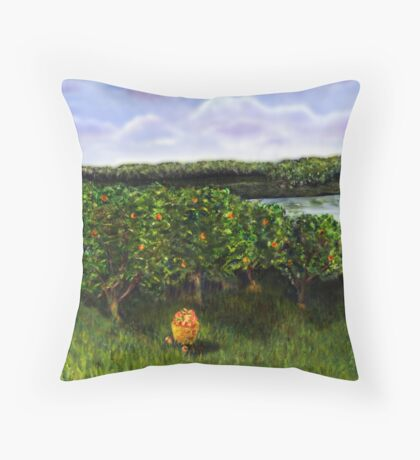 Southern Peaches Throw Pillow