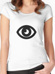 Psychic Type Symbol Women's Fitted Scoop T-Shirt