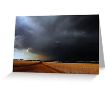 Wheatbelt Thunderstorm Greeting Card
