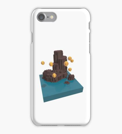 Voxel Lantern Cliffs iPhone Case/Skin