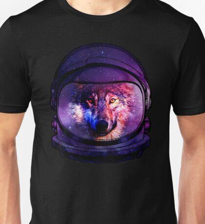Astronaut Galaxy Wolf  Unisex T-Shirt