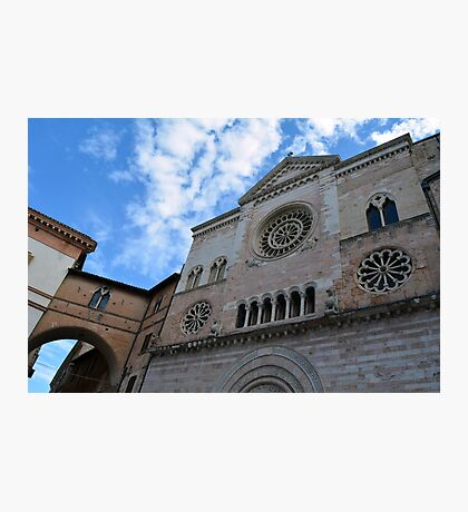 Cathedral with rosette in Foligno  Italy  Photographic Print