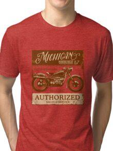 Michigan Motorcycle Parts & Repair Tri-blend T-Shirt