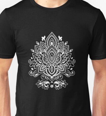 White Mandala Pattern Unisex T-Shirt