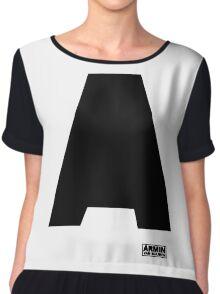 Amin Van Buuren logo A black - shirt - state of trance Chiffon Top