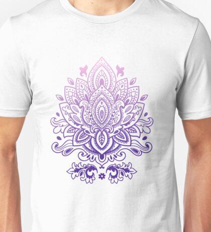 Purple gradient mandala pattern Unisex T-Shirt