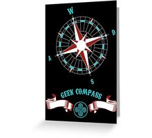 Geek Compass Greeting Card