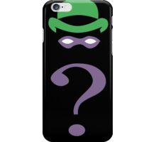 The riddler minimalist iPhone Case/Skin