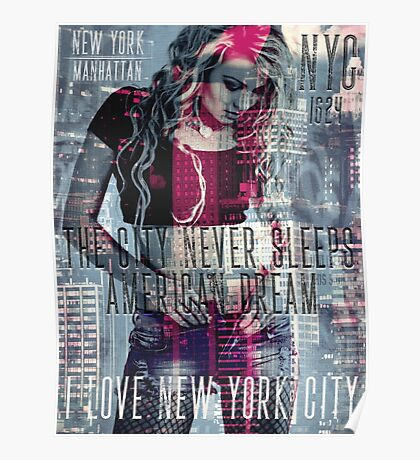 NEW YORK - THE CITY NEVER SLEEPS Poster