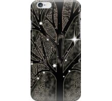 Tree with empty branches in dark cold night  iPhone Case/Skin