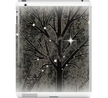 Tree with empty branches in dark cold night  iPad Case/Skin