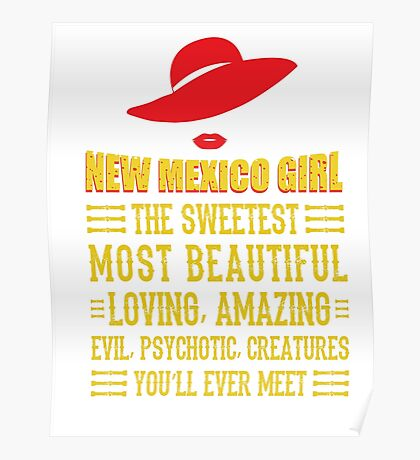 New Mexico Girl Poster
