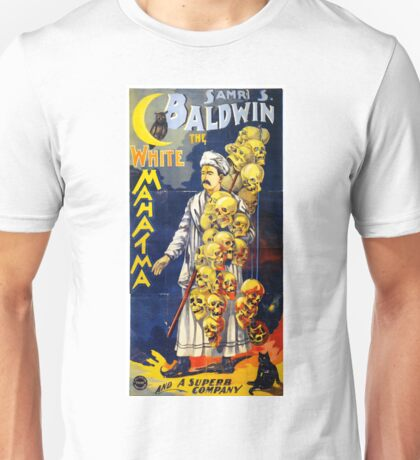 Baldwin The White Mahatma Vintage Poster Unisex T-Shirt