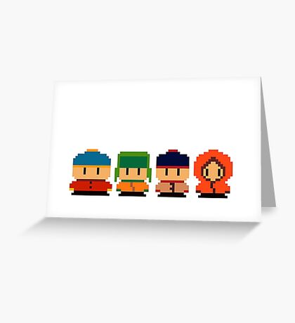 South Park Pixel Greeting Card