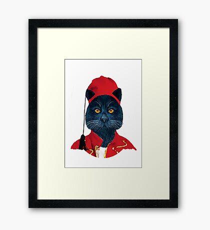 Charming Greek Cat Framed Print