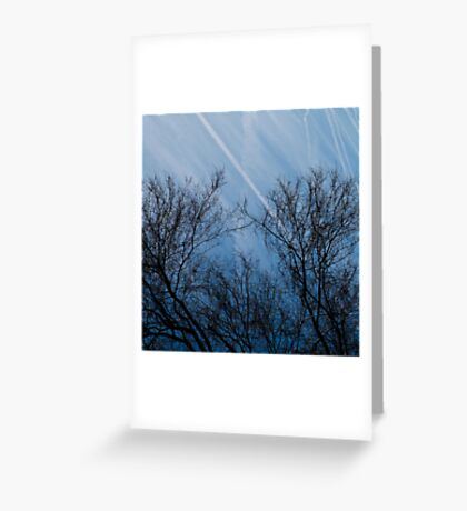 Landscape in the winter Greeting Card