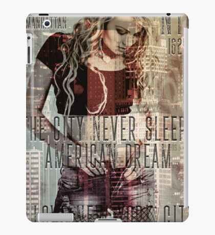 NEW YORK - THE CITY NEVER SLEEPS iPad Case/Skin