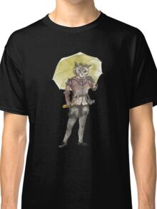 Steampunk Yellow Umbrella Cat with Goggles and Mask Classic T-Shirt