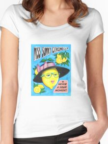 MISS SUNNY CITRONELLA Women's Fitted Scoop T-Shirt