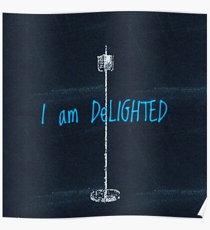 I am DeLIGHTED  Poster