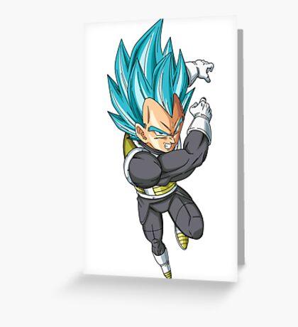 Super Saiyan Blue Vegeta Greeting Card