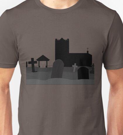 Spooky graveyard. Unisex T-Shirt