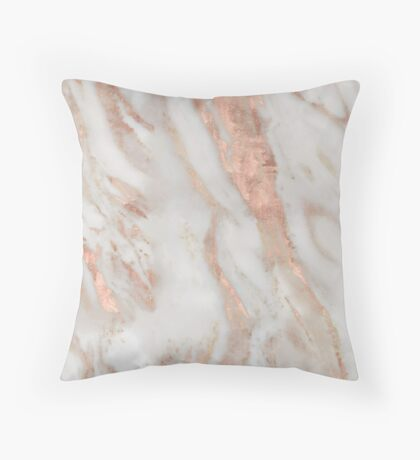 Civezza - rose gold marble Throw Pillow