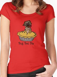 Pug Pot Pie Women's Fitted Scoop T-Shirt
