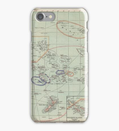 The Pacific Ocean Antique Maps iPhone Case/Skin