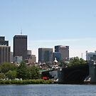 Downtown Boston from the river by Ilan Cohen