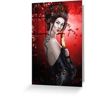Fire Geisha  Greeting Card
