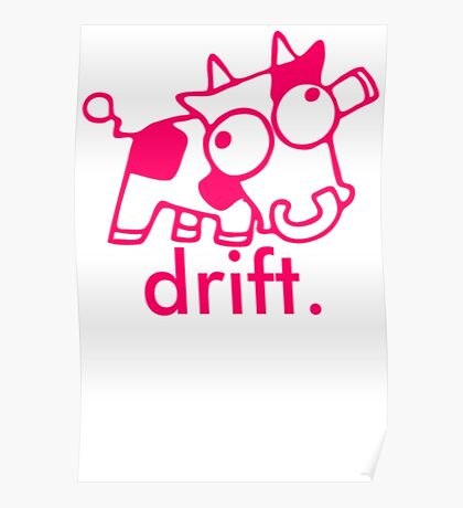 Drift Cow | Cow Shirt For Boys Poster