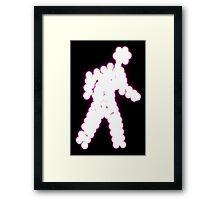 Crossing Man, Purple Framed Print