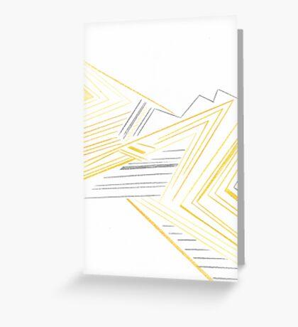 Abstract Lemon Man Greeting Card