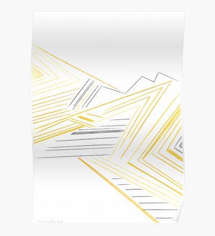 Abstract Lemon Man Poster