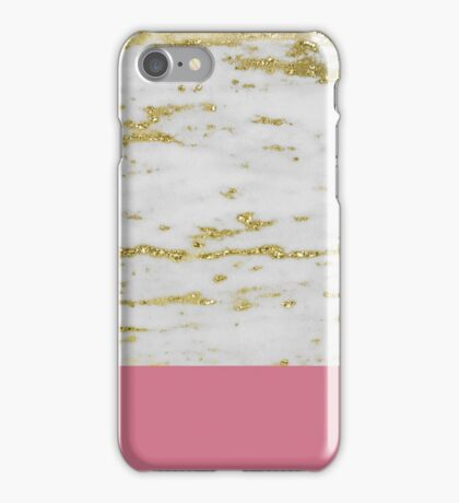 Faraldi gold marble and orchid pink iPhone Case/Skin