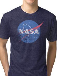 Distressed Nasa Logo Tri-blend T-Shirt