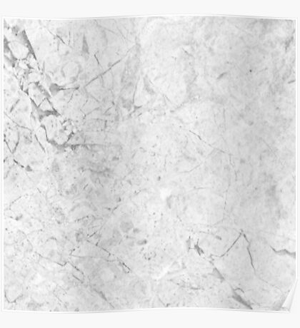 Gray Marble Crackle Poster