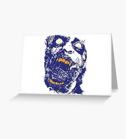 The Zombie Blue Greeting Card
