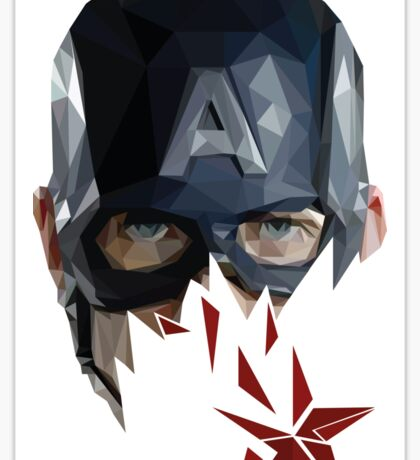 Captain America Polygon Sticker